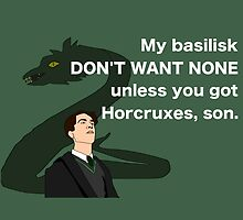Lord Horcrux-A-Lot and his Basilisk by GeekyToGo