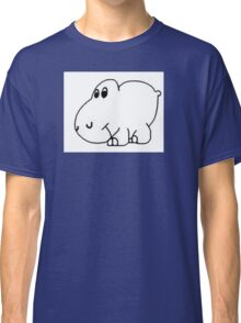 Arm The Homeless Hippo Guitar Sticker Classic T-Shirt