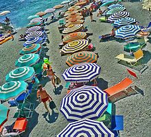 Summer at Monterosso Beach Italy by Giovanna Tucker