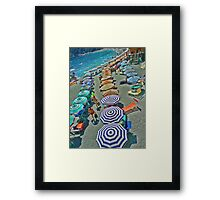 Summer at Monterosso Beach Italy Framed Print