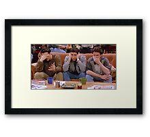 Chandler, Ross, and Joey Framed Print