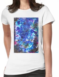 watercolor night sky Womens Fitted T-Shirt