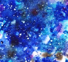 watercolor night sky Sticker