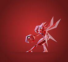 Porymon Scizor | Polygonal Pokemon Series by abowersock
