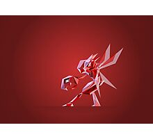 Porymon Scizor | Polygonal Pokemon Series Photographic Print