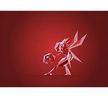 Porymon Scizor | Polygonal Pokemon Series Photographic Print