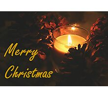 Christmas Candle Photographic Print