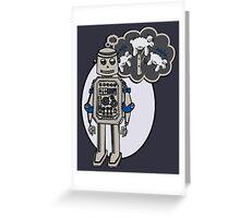 Robots and Sheep Greeting Card