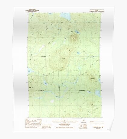 Maine USGS Historical Map Round Mountain 102928 1985 24000 Poster