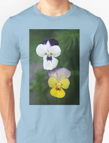 Violet Viola Pansy Flowers T-Shirt