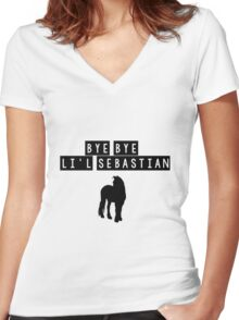 Bye Bye Lil Sebastian Women's Fitted V-Neck T-Shirt