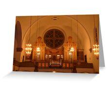 Art Nouveaux Church Greeting Card