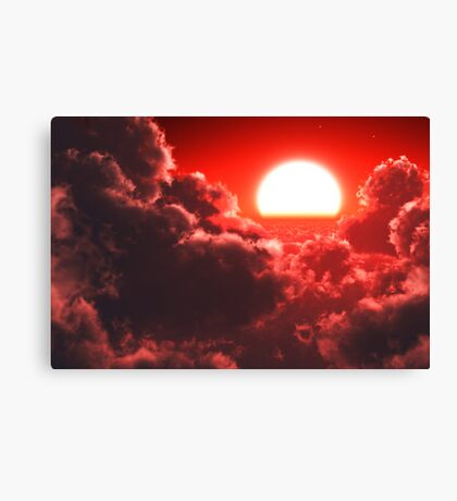 Cloudscape red Canvas Print
