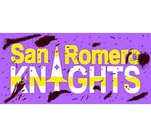 Bloody San Romero Knights Logo Photographic Print