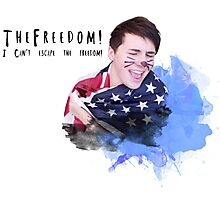 Danisnotonfire - I can't escape the freedom Photographic Print