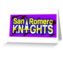 Bloody San Romero Knights With Purple Outline Greeting Card