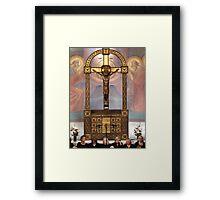 Crucifix in Art Nouveaux Framed Print