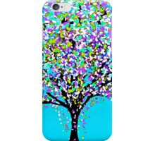 The Tree Blue Purple Black and White Oil Painting iPhone Case/Skin