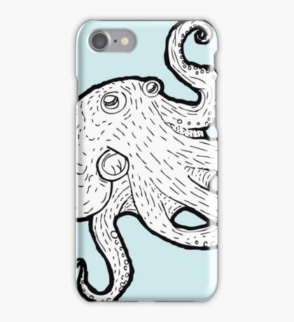 Octopus Encounter an Alien Species iPhone Case/Skin
