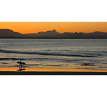 Sunset at Watego's Beach V Photographic Print