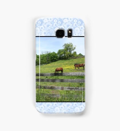 Springtime in a Peaceful Pasture Samsung Galaxy Case/Skin