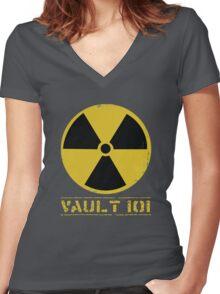 Vault 101 Women's Fitted V-Neck T-Shirt