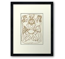 relief with fighting men Framed Print