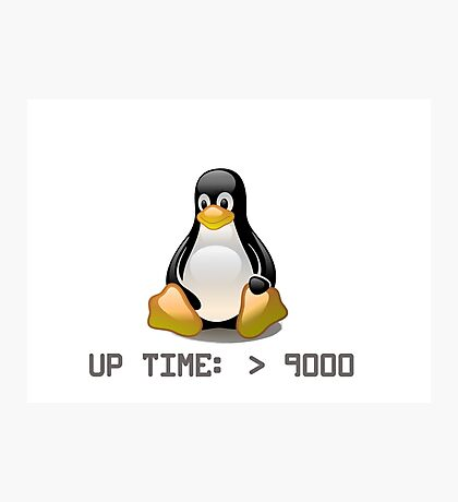 Linux - Uptime Over 9000 Photographic Print
