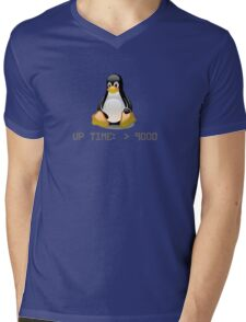 Linux - Uptime Over 9000 Mens V-Neck T-Shirt