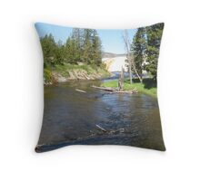 Hot Springs River Throw Pillow