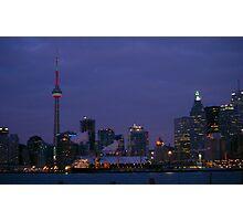 Toronto Xmas Skyline..... Ho Ho Ho Photographic Print