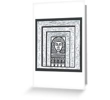 woman at a window Greeting Card