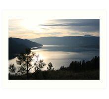 Kalamalka Lake from Kal. Lake Provincial Park. Art Print