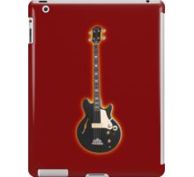Black bass guitar iPad Case/Skin