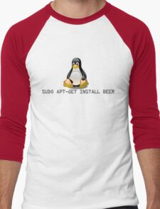 Linux - Get Install Beer Men's Baseball ¾ T-Shirt