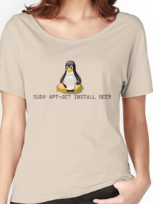 Linux - Get Install Beer Women's Relaxed Fit T-Shirt