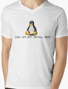 Linux - Get Install Beer Mens V-Neck T-Shirt