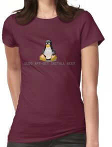 Linux - Get Install Beer Womens Fitted T-Shirt
