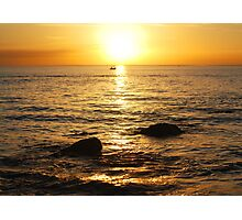 Sunset on Two Rocks Photographic Print