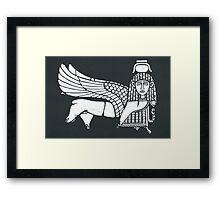 broken sphinx Framed Print