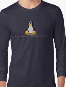 Linux - Get Install Pizza Long Sleeve T-Shirt