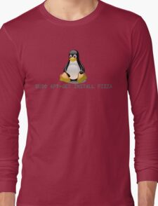 Linux - Get Install Pizza Long Sleeve T-Shirt