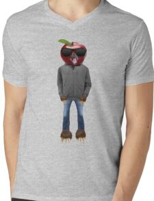 Apple man Mens V-Neck T-Shirt