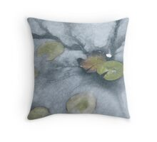 Ice Lilies Throw Pillow