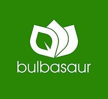 Bulbasaur Logo Monotone by newbzter