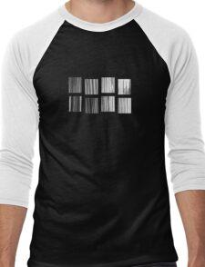 Fragments - B&W Halftone Men's Baseball ¾ T-Shirt