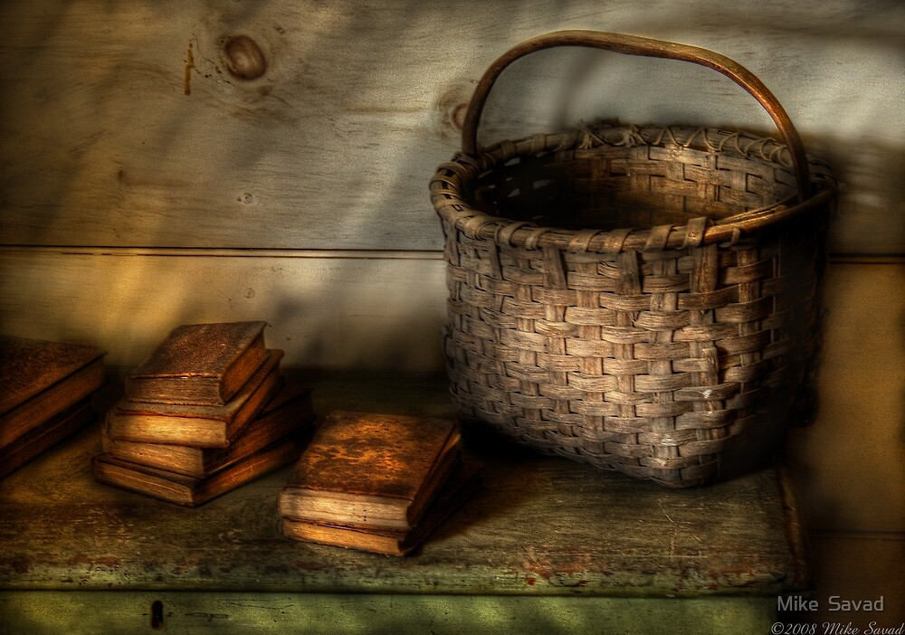 A Basket and some Books by Mike  Savad