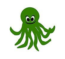 Green Octopus Design  by biglnet