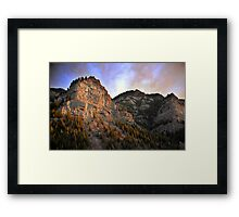 Provo Canyon - Last Rays of Light Framed Print