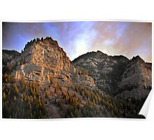 Provo Canyon - Last Rays of Light Poster